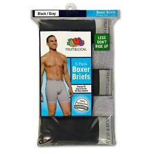 Fruit of the Loom Men's 5-Pack Synthetic Boxer Briefs. Assorted Colors