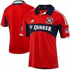 NEW ADIDAS Chicago Fire Authentic Home Soccer Jersey On Field USA MLS