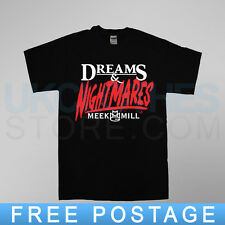 MEEK MILL DREAMS AND NIGHTMARES YMCMB  MMG YMCMB DREAMCHASERS RAP  T SHIRT