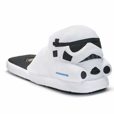 NEW Star Wars Storm Trooper Helmet Slippers Men's Adult Sized Costume Shoes