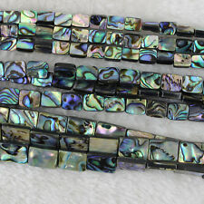 Rectangle Abalone Shell Beads Loose Gemstone Beads Jewelry Making Strand 15 Inch