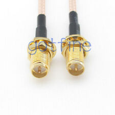 RP-SMA to RP-SMA female jack both male pin RG316 RF coxial Pigtail jumper cable