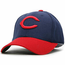 American Needle Cleveland Indians Navy/Scarlet Cooperstown Fitted Hat