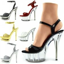 Womens Stilletto New High Heel Black Open Toe Diamond Decor Party Wedding Shoes
