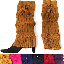 Women Crochet Knit Leg Warmers Boot toppers Socks Cuffs Knee High Long LEGGING