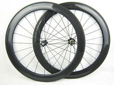 23mm width carbon fiber bike 60mm tubular wheels 700C road bicycle wheelset