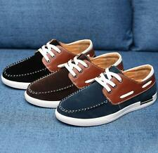 Summer oxfords Men's round toe lace up faux suede casual driving athletic shoes