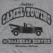 Towing Camel Toe retro tow truck dirty funny T SHIRT GREY