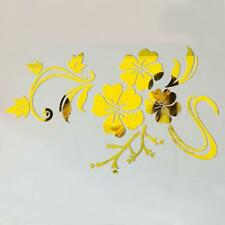 Gold Silver Acrylic Mirror Effect Wall Stickers Vinyl Stickers Home Decor MKLG