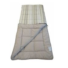Sunncamp Grey Stripe Super King Sleeping Bag / Ideal For Camping and Caravaning