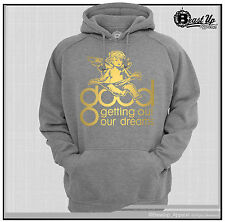 GOOD MUSIC LOGO HOODIE/ HOODY HEATHER GRAY SWEATER  KANYE WEST COMMON 2 CHAINS
