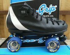 SURE GRIP BLACK LEATHER- SPEED/ DERBY ROLLER SKATES - SIZE 11 (MEN'S)