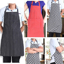 Womens Mens Cooking Chef Kitchen Restaurant Bib Apron Dress with 2-Pocket Gifts