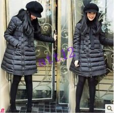 Womens Fur Collar Warm Duck Down Jacket Parka Winter Long A-Line Coat Overcoat