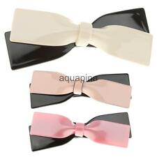 Fashion Bowknot Acrylic Hair Barrette Hairpin Clips Hair Accessories Multi-color
