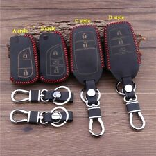 Leather Car Key Cover For Toyota Camry Crown Reiz Corolla RAV4 Highlander Prado