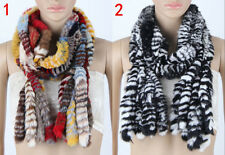 Women Real Rabbit Fur Scarf Long Scarves Shawl Wrap Winter Stole Cape Scarf New