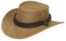 Jacaru Suede Leather hat Australian made for golf sport Sand
