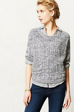 NEW Anthropologie Moth Marled Swing Sweater Pullover Gray Size L