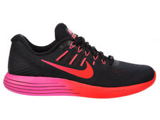 NEW WOMENS NIKE LUNARGLIDE 8 RUNNING SHOES TRAINERS BLACK / NOBLE RED / BRIGHT