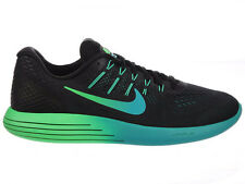 NEW MENS NIKE LUNARGLIDE 8 RUNNING SHOES TRAINERS BLACK / RIO TEAL / CLEAR JADE