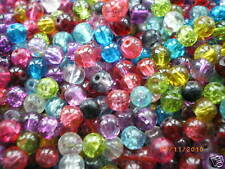 Glass Crackle Beads 4mm, 6mm, 8mm And10mm -choose Colour, Size & Quantity!