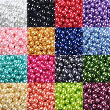Hot Wholesale Glass Pearl Round Spacer Loose Beads 4mm/6mm/8mm/10mm