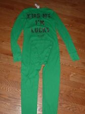 "VICTORIAS SECRET PINK BLING ""PINK"" ""KISS ME I'M LUCKY"" ONESIE LONG JANE NWT NWT"