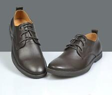 Formal Business England gentleman Men's genuine cowhide LaceUp Derby dress shoes