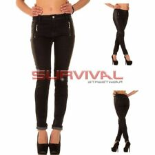 Womens Designer Black Jeans Size 8 10 12 14 Sexy Low Rise Hipster Stretch Denim