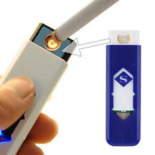 USB Electronic Rechargeable Battery Flameless Cigar Cigarette Lighter IF