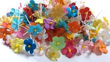 Mixed 20 colors Die Cut Mulberry Paper Mini Flowers Card Making crafts Lots