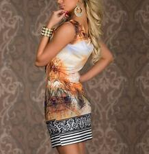 Dress Dress Women Vintage Mini Flower Feather Chain Sexy Print Sleeveless Retro