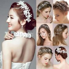 Crystal Wedding Bridal Princess Faux Pearl Flower Party Headband Hair Tiara Band