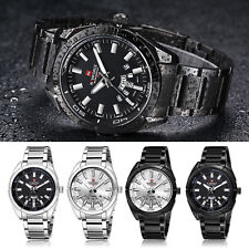 Fashion Mens Waterproof Stainless Steel Date Backlight Analog Quartz Wrist Watch