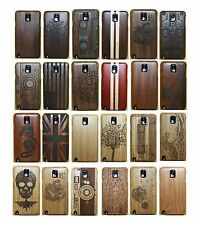 Genuine Wood Bamboo Combo Hard Case Cover for Samsung Galaxy Note 5 S7 S6 S5 Neo