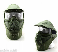 Paintball Tactical Airsoft Game Face Safety Full Mask Guard Goggles&Neck Protect