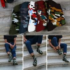 5 Pairs CAMO/CAMOUFLAGE Mens/Unisex Cotton-Rich Socks, army/khaki/military/punk