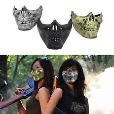 Costume Halloween Party Airsoft Skull Mask Motorcycle Skeleton Half Face MKLG