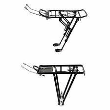 "BIKE BICYCLE REAR PANNIER RACK 26"" 28"" 700C WHEELS ADJUSTABLE SPRING FLAP"