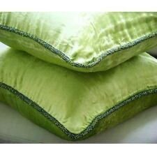 Solid Color Green Velvet 40x40 cm Cushion Covers Decorative - Green Lime