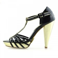 Womens Ladies Ankle Strappy Platform Peep Toe High Heel Sandals Shoes Size UK