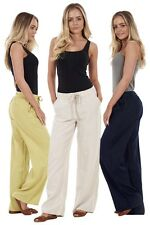 Ladies Holiday Navy Linen Khaki Trousers Black Holiday Womens Pants Summer White