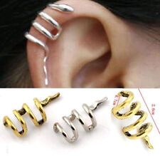 Vintage Gothic Punk Snake Cartilage Ear Cuff Clip Wraps Stud Earrings Jewellery