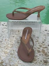 Donald Pliner $215 COUTURE METALLIC PITONE SNAKE LEATHER Shoe Sandal NIB THONG 6