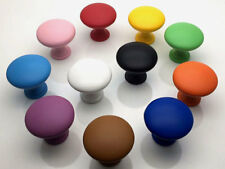 Colorful Drawer Pull Cabinet Knob Pink Yellow Red Blue Green Orange Brown Purple