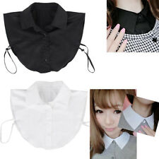 Vogue Retro Lady Womens Fake Shirt Blouse Button Collar Detachable New 2 Colors