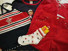 NWT Gymboree Vintage Red,White,Blue Sailor Nautical Girl sz 7 XXL  U PIC
