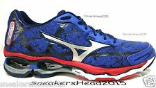 BRAND NEW MIZUNO WAVE CREATION 16 MEN'S RUNNING TRAINING SHOES BLUE/SILVER/RED