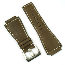 Brown Bomber Leather Watch Band fits Bell & Ross BR01 BR03